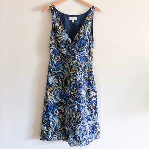 Anthropologie Blue Watercolor Dress